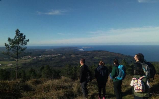 Vistas dende o Monte Neme da fermosa lagoa de Baldaio